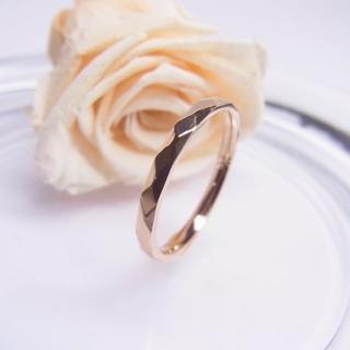 ダイヤカットが美しく輝く華奢リング*°ピンクゴールド°*【単品】(リング(指輪))