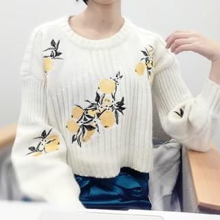 cawaii - レモン刺繍ニット