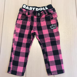 BABYDOLL - Babydoll ズボン サイズ80 ピンクチェック柄