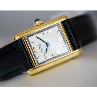 Cartier - 美品 カルティエ マスト タンク ゴールドアラビア SM Cartier
