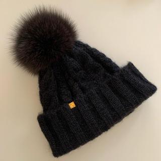 CA4LA - CA4LA  カシラ ニット帽 黒 ブラック