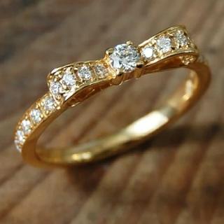 avaron(アヴァロン)Rondo  K18 ダイヤモンド リボン リング(リング(指輪))