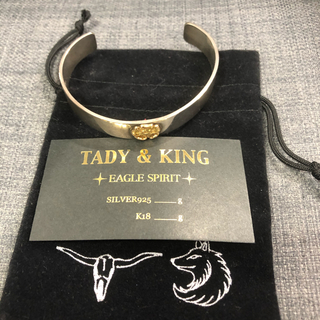 ゴローズ(goro's)の平打ちローズメタルバングル タディー&キング フェザー TADY&KING(ブレスレット)