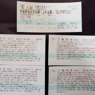 ジェイアール(JR)の青春18きっぷ 新品未使用 青春18切符 送料無料(鉄道乗車券)