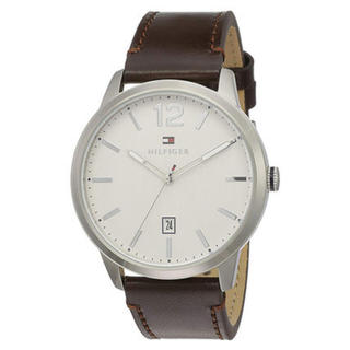 TOMMY HILFIGER - 新品 トミーヒルフィガー メンズ 腕時計 ダークブラウン レザー 1791495