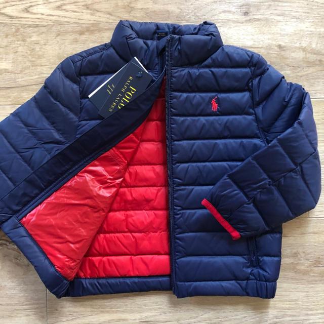 Ralph Lauren(ラルフローレン)のパッカブル ライトダウンジャケット ネイビー 120 キッズ/ベビー/マタニティのキッズ服男の子用(90cm~)(ジャケット/上着)の商品写真