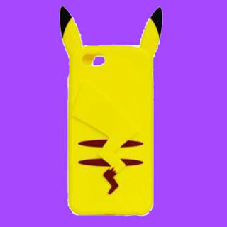 ポケモン(ポケモン)のポケモン ポケットモンスター ピカチュウ iPhone6s対応シリコンジャケット(iPhoneケース)