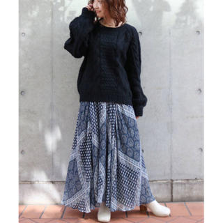 Ungrid - Ungrid ラメランダムプリーツパネル柄スカート