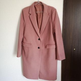 GU - GU ウールブレンドチェスターコート ピンク XL