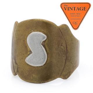 秀逸ハンドメイド WWII USアーミー アメリカビンテージリング イニシャルS(リング(指輪))