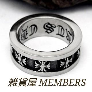 送料無料17号クロムシルバークロス十字架フープスペーサーリング指輪値下残りわずか(リング(指輪))
