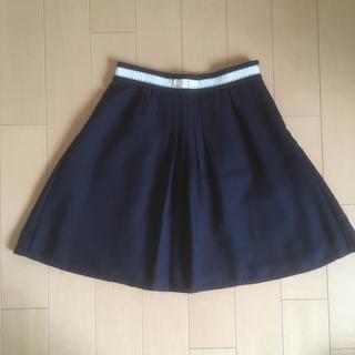 プーラフリーム(pour la frime)のプーラフリーム 紺色スカート(ひざ丈スカート)