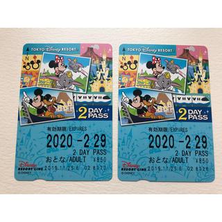 ディズニー(Disney)の【新品・未使用】ディズニーリゾートライン2DAYSチケット(その他)