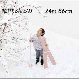 PETIT BATEAU - 【美品】プチバトー フラワープリントフード付ジャケット 24m