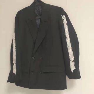DOUBLET 19FW 刺繍 テーラードジャケット ブラック