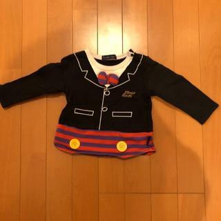 フタフタ(futafuta)のミッキーマウス 薄手トレーナー(Tシャツ/カットソー)