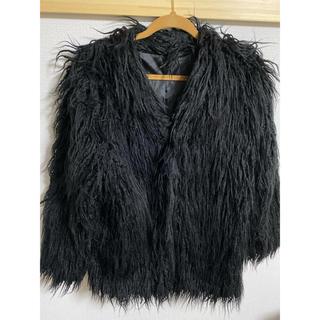 アナップ(ANAP)のANAP ファーコート ブラック(毛皮/ファーコート)