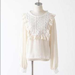 one after another NICE CLAUP - 【petite by niceclaup】2way frill blouse