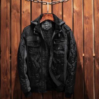 冬新品メンズブランドマルチポケットジャケットスリムカジュアルジャケット(ダウンジャケット)