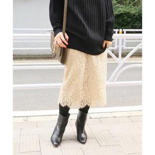 イエナ(IENA)のIENA レースタイトスカート◆ 34(ロングスカート)