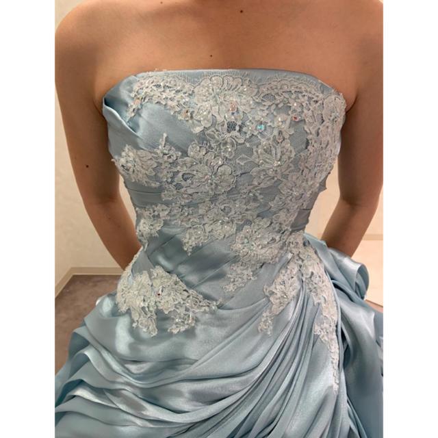 くすみカラー【アイスブルー】 ブランドカラードレス♡ レディースのフォーマル/ドレス(ウェディングドレス)の商品写真