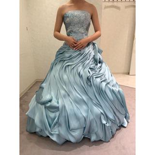 くすみカラー【アイスブルー】 ブランドカラードレス♡