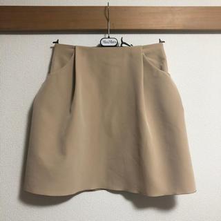 フォクシー(FOXEY)の美品 フォクシー FOXEY NEWYORK スカート イリプスフレア 40 M(ひざ丈スカート)
