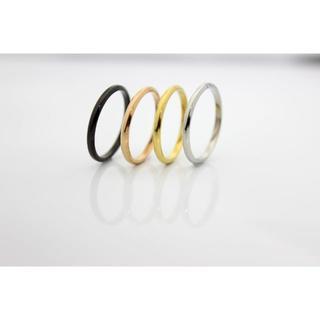 シンプル細身 指輪 (ペアリング2本)カラーが選べる*名入れ刻印5-29号(リング(指輪))
