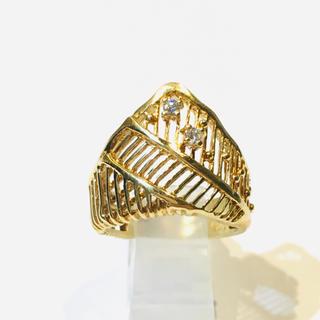 k18 イエローゴールド リング 指輪 天然ダイヤ(リング(指輪))