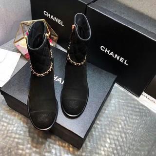 シャネル(CHANEL)の☆シャネルショートブーツ☆美品 23.5(ブーツ)