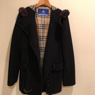 バーバリーブルーレーベル(BURBERRY BLUE LABEL)のバーバリーブルーレーベル コート 黒(ブルゾン)