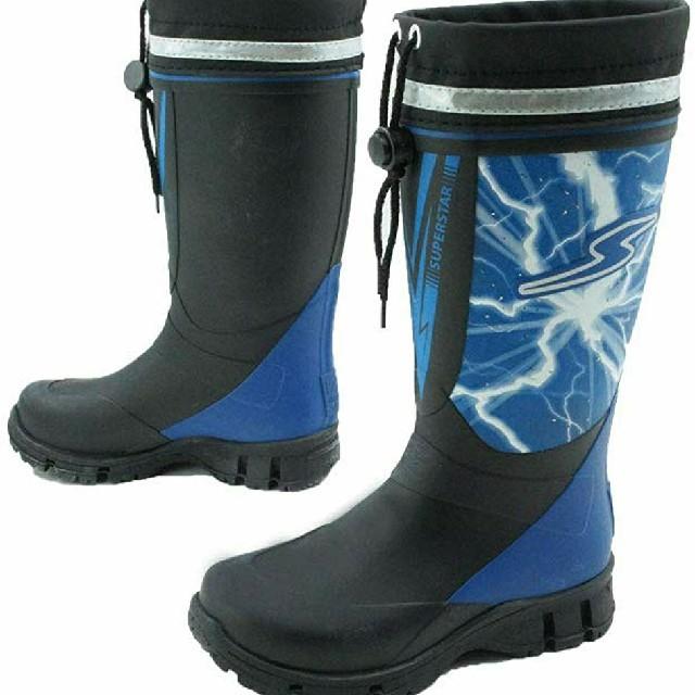 MOONSTAR (ムーンスター)の新品【19㎝】moonSTAR SUPERSTAR 冬靴 長靴 スパイク付ブーツ キッズ/ベビー/マタニティのキッズ靴/シューズ(15cm~)(長靴/レインシューズ)の商品写真