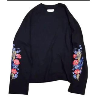 Jieda - お値下げしません!jiedaジエダ flower embroidery Tシャツ