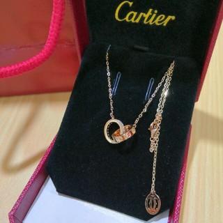 素敵♥ カルティエ ネックレス Au750 ピンクゴールド 人気 (ネックレス)