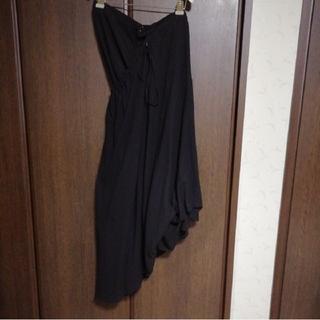 ヨウジヤマモト(Yohji Yamamoto)の☆Yohji Yamamoto レディース パンツinスカート/ラップパンツ黒(サルエルパンツ)