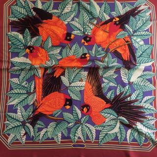 Hermes - エルメス スカーフ オウム