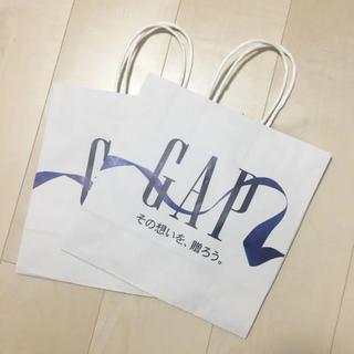 GAP - GAP ショッパー 紙袋 袋 2枚 ラッピング