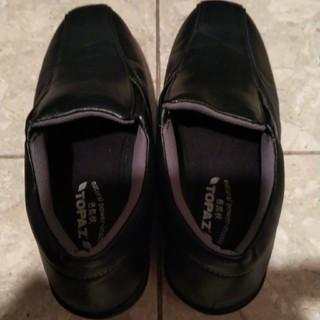 滑りにくい幅広い黒 靴(その他)