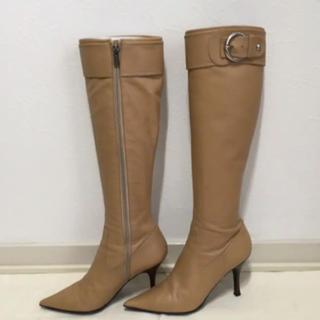ダイアナ(DIANA)のDIANA ロングブーツ ベージュ 23.5cm(ブーツ)
