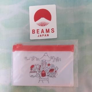 ビームス(BEAMS)のBEAMS JAPAN・TSUTAYAコラボ ステッカー オリジナルポーチ(ノベルティグッズ)