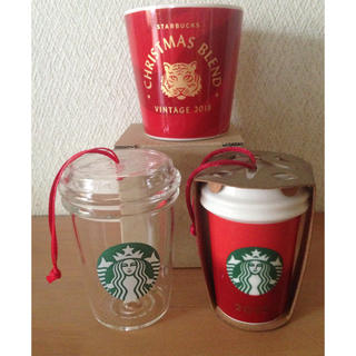 スターバックスコーヒー(Starbucks Coffee)のスターバックス クリスマスオーナメント&非売品カップ(その他)
