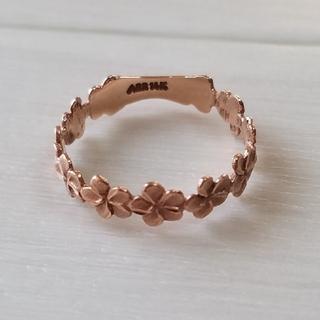 14K ピンクゴールド プルメリア リング(リング(指輪))