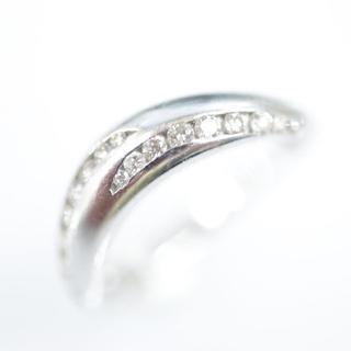 トクトクジュエリー 18金 ホワイトゴールド ダイヤモンド リング(リング(指輪))