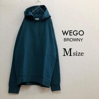 ウィゴー(WEGO)のMサイズWEGO BROWNY⭐️新品⭐️裏毛プルパーカーグリーン(パーカー)