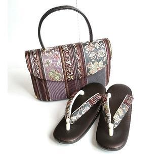《新品・未使用》L寸 草履とバッグのセット