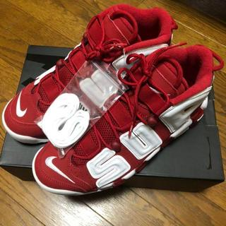 ナイキ(NIKE)のSupreme×NIKE AIR MORE UPTEMPO(スニーカー)