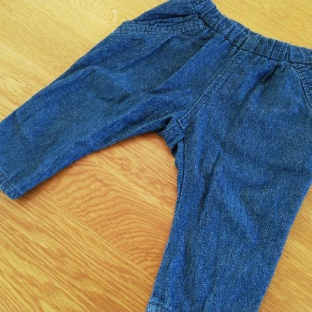 MARKEY'S(マーキーズ)のOCEAN&GROUND デニム ドラエルパンツ 80cm キッズ/ベビー/マタニティのベビー服(~85cm)(パンツ)の商品写真