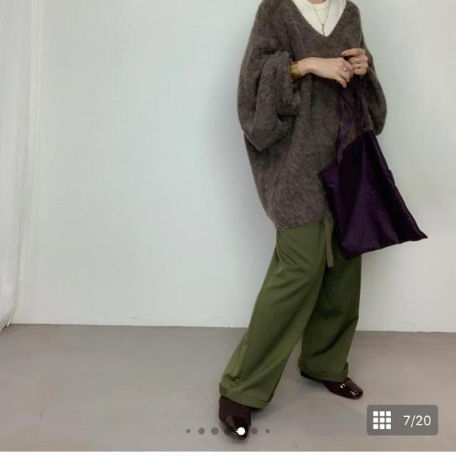 green label relaxing(グリーンレーベルリラクシング)のcft.アルパカミックスニット  美品 レディースのトップス(ニット/セーター)の商品写真