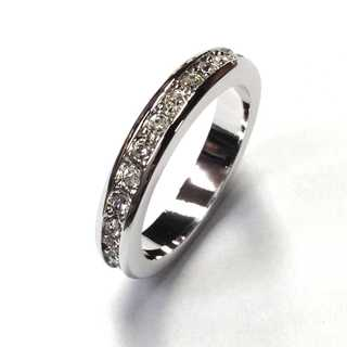 フルエタニティリング シルバー 指輪 スワロフスキー社製クリスタル使用(リング(指輪))