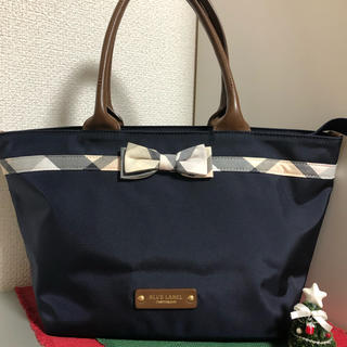 バーバリーブルーレーベル(BURBERRY BLUE LABEL)の美品専用 バリークレストブリッジチェックリボントートバッグ(トートバッグ)
